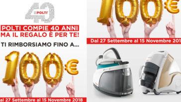 Cashback Polti: fino a 100€ di rimborso