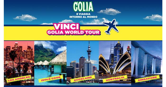 Concorso Golia: vinci viaggio Golia World Tour