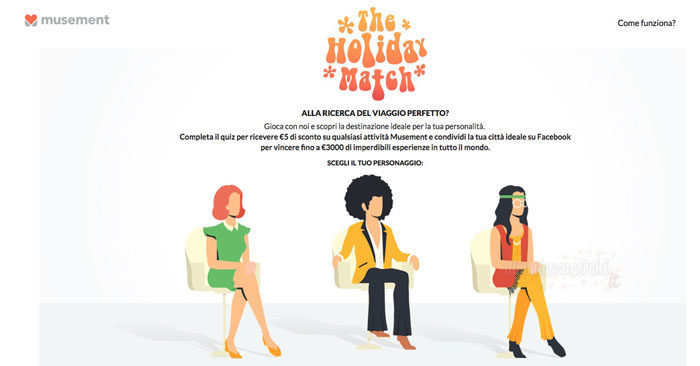 "Concorso Musement ""The Holiday Match"""