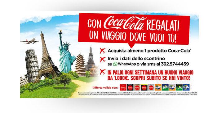 """Concorso """"Viaggia con Coca Cola"""""""