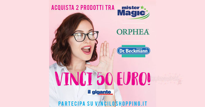 """Concorso """"Vinci lo shopping"""" con Mister Magic"""