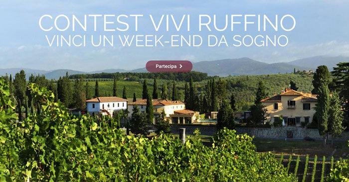 Concorso Vivi Ruffino: vinci forniture di vino