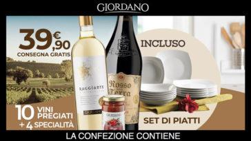 Giordano Vini: offerta piatti in porcellana