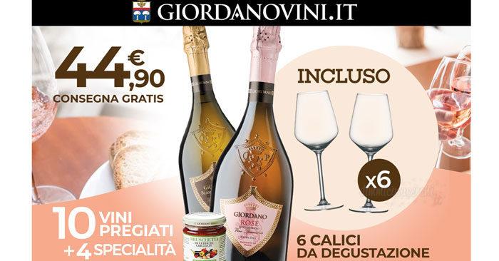 Giordano Vini ti regala i calici da vino