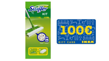 Vinci carte regalo Ikea con Swiffer