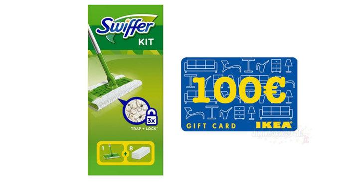 Vinci carte regalo Ikea con Swiffer