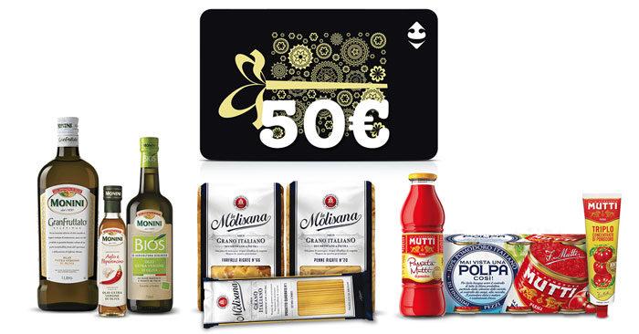 Vinci gift card Carrefour con Molisana, Mutti e Monini