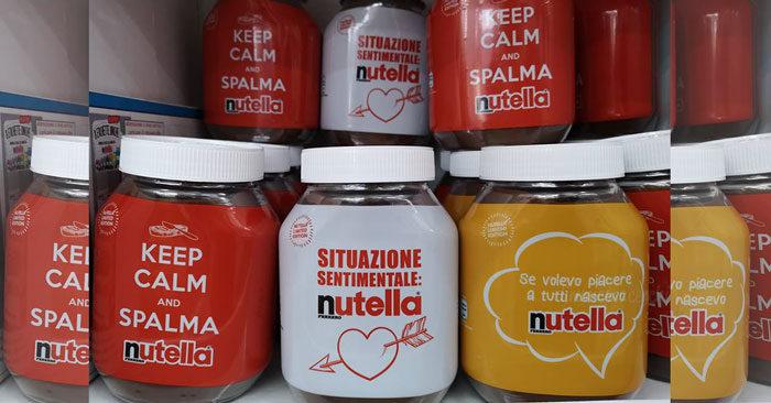 vasetti Nutella Limited Edition