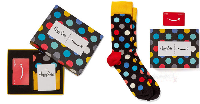 Calzini Happy Socks di Natale omaggio con Amazon