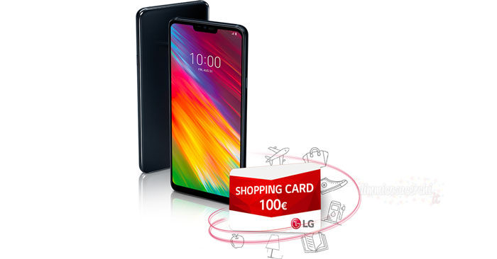 LG G7 ti regala una shopping card da 100,00€