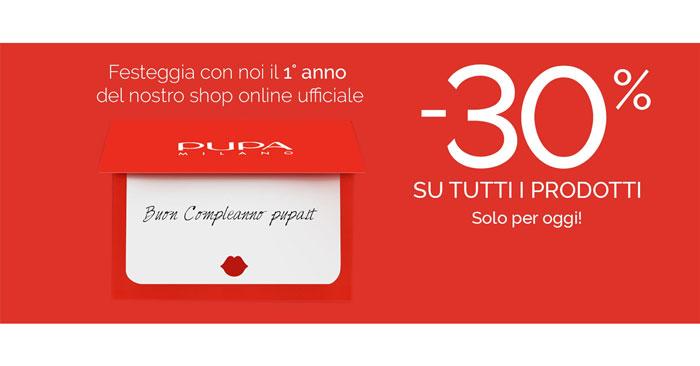 Anniversario shop Pupa