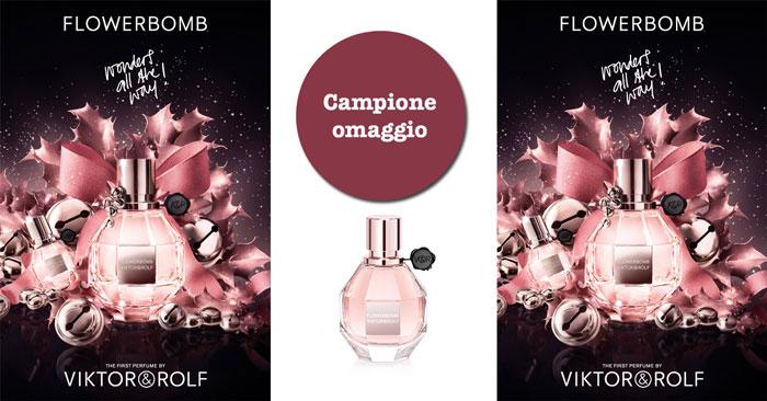 Flowerbomb: richiedi il campione omaggio in FIALETTA