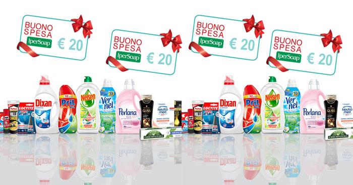 Vinci buoni spesa Ipersoap con Henkel