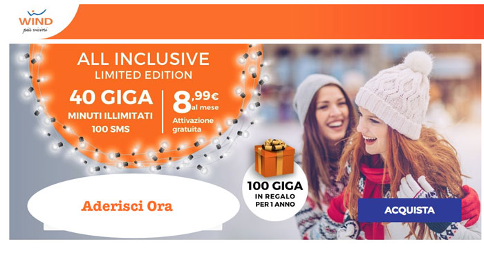 Wind All Inclusive Limited Edition Natale 2018