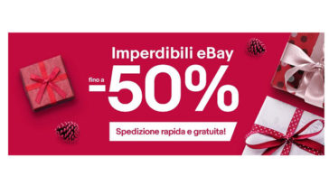 Ebay:- 50%, spedizione rapida e gratuita