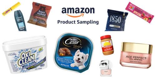 Amazon: programma di campioni omaggio