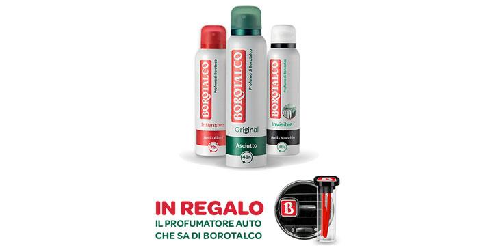 Borotalco ti regala il profumatore per auto al Borotalco