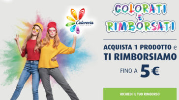 "Coloreria Italiana: ""Colorati e rimborsati"""