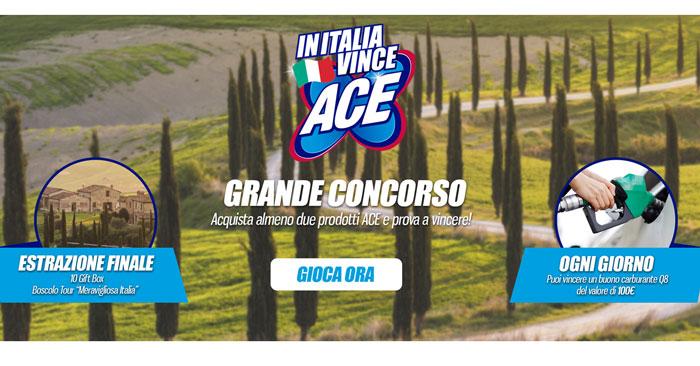 """Concorso """"In Italia vince Ace"""""""
