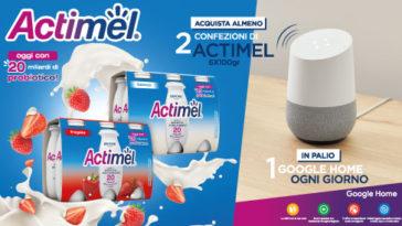 """Concorso """"Vinci Google Home con Actimel"""""""