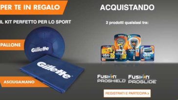 Gillette ti regala il kit per lo sport