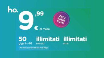 Ho Mobile offerta a 9,99 euro