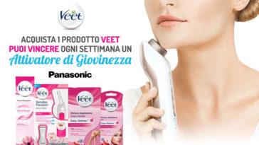 Vinciattivatori di giovinezza Panasonic con Veet