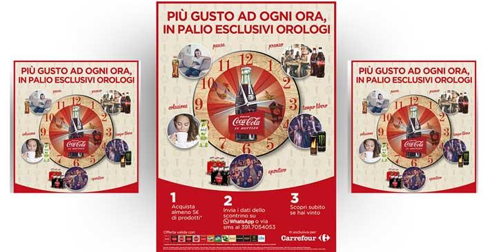 Vinci orologi Coca-Cola con Carrefour