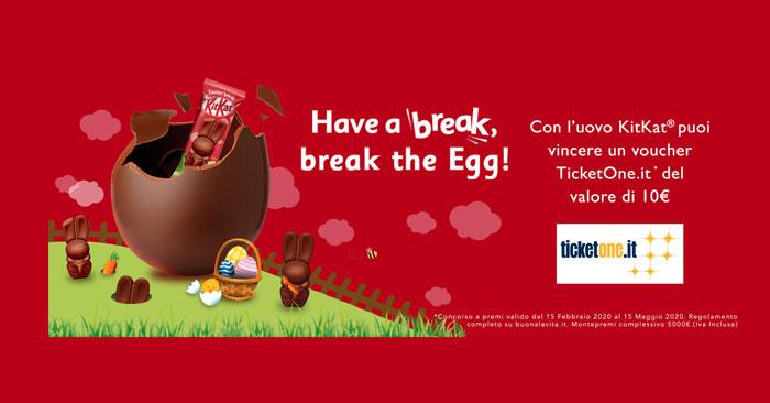 Concorso KitKat uova di Pasqua: vinci buoni Ticket One