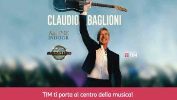 Concorso Tim Party: vinci biglietti tour Claudio Baglioni