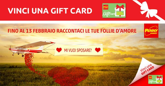 """Concorso """"Vinci una gift card"""" Penny"""