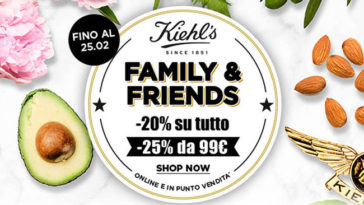 Kiehl's: promo Friends and Family