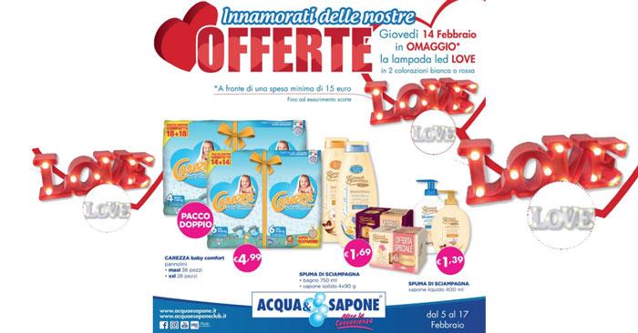 Lampada a led Love da Acqua&Sapone