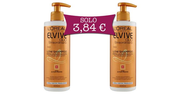 Low shampoo L'Oreal offerta