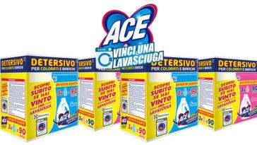 Concorso Ace: vinci una lavasciuga