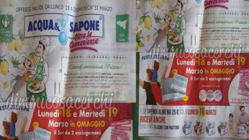 Anteprima Volantino Acqua e Sapone (dal 18 al 31 marzo)
