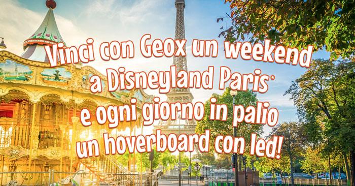 Concorso Geox: vinci Disneyland Paris e Hoverboard