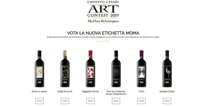"""Concorso """"Vota la nuova etichetta MOMA"""""""