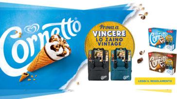 Cornetto: vinci zaino vintage