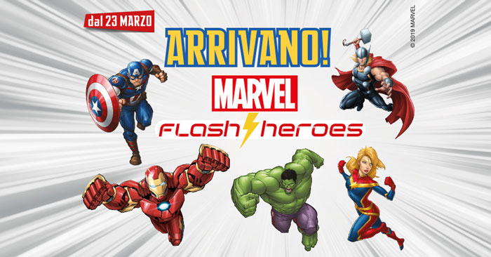 Eurospin: collezione Marvel flash Heroes