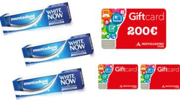 Mentadent: vinci Gift Card Mondadori da 200 euro