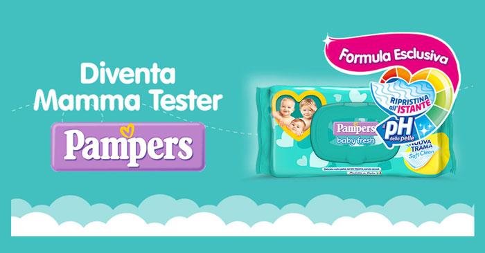 Pampers: diventa mamma tester