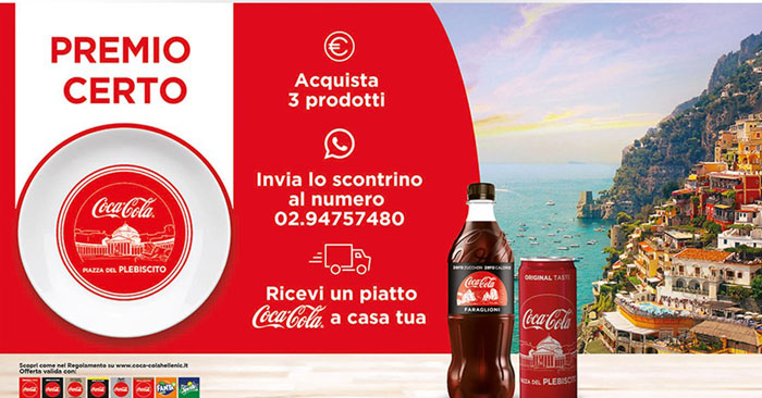 Piatto Coca‑Cola in regalo