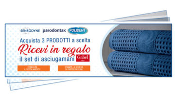 Premio certoSensodyne, Parodontax, Polident: set asciugamani Gabel