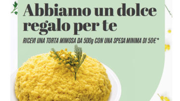 Torta mimosa omaggio da Sapore di Mare