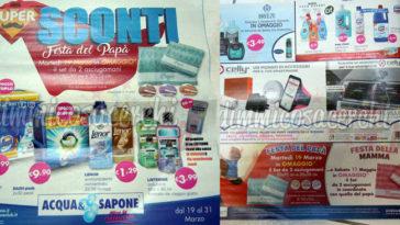 Volantino Acqua&Sapone dal 19 al 31 marzo