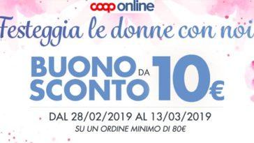 Coop online: codice sconto festa della donna