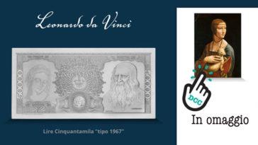"""Banconote """"Storia della lira"""": in omaggio stampa Dama con l'ermellino"""