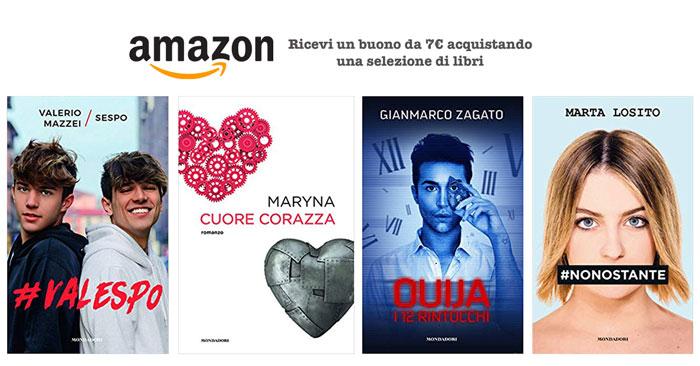Amazon: buono regalo di 7 euro con i tuoi libri