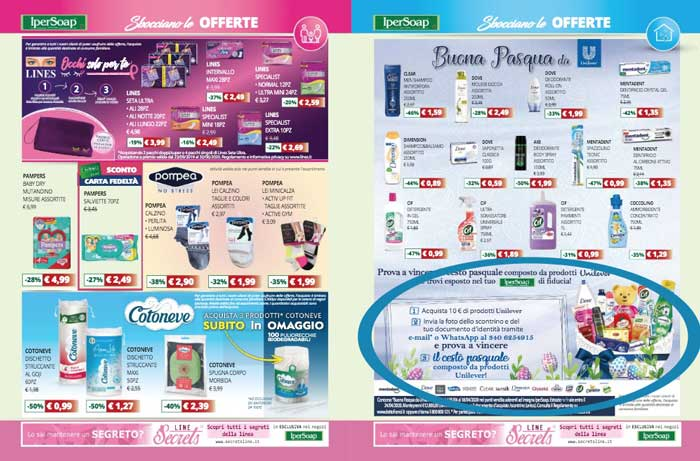 Buona Pasqua da Unilever: vinci forniture di prodotti